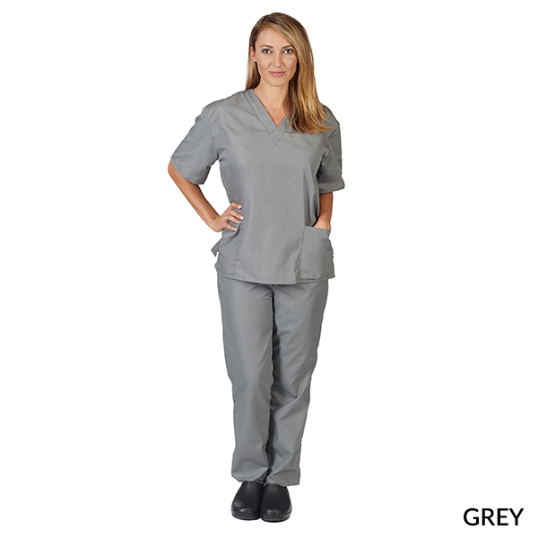 76dbfb69c67 UNISEX SOLID V-NECK SCRUB SET (STYLE# 101) - M&M Scrubs